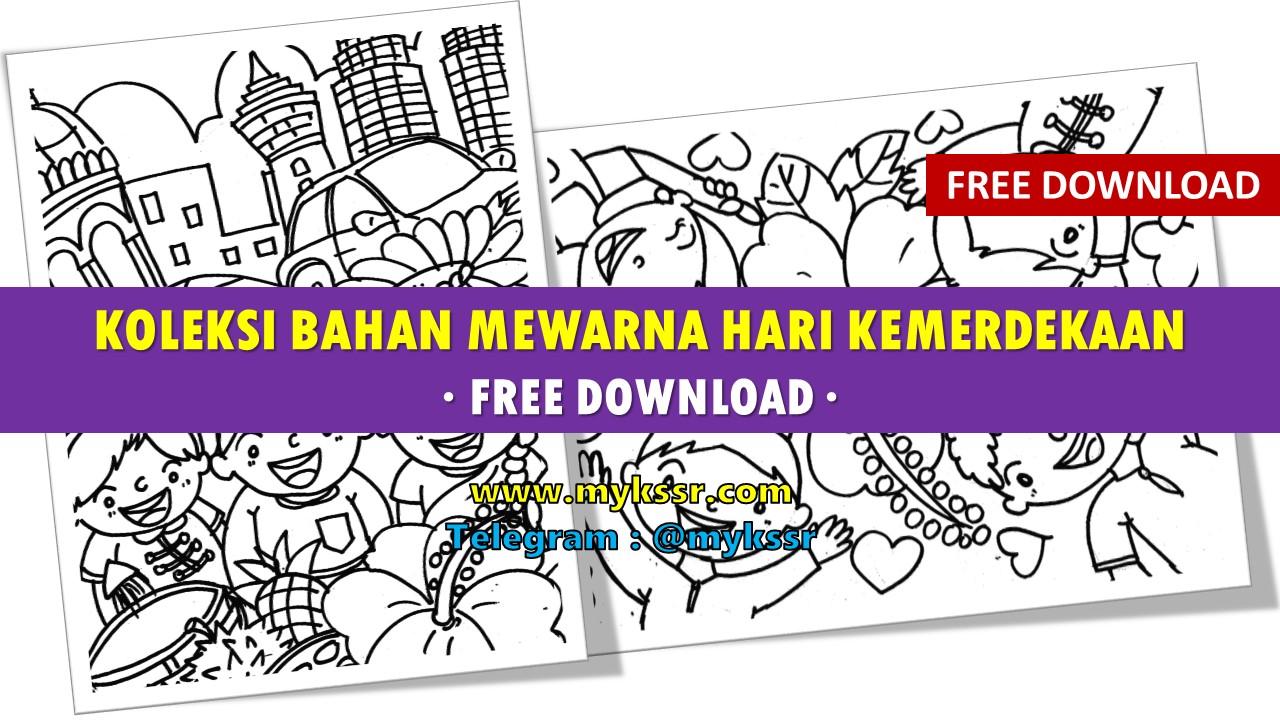 Koleksi Bahan Mewarna Hari Kemerdekaan [Free Download]