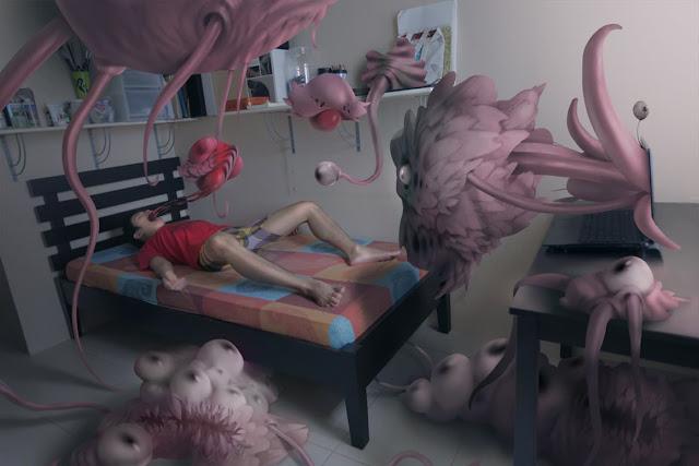 ilustraciones-alucinaciones-parálisis-del-sueño