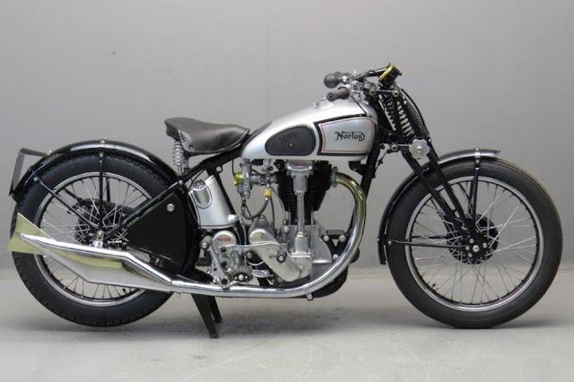 Norton CS1 1930s British classic motorcycle