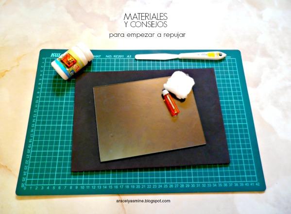 Materiales y consejos para empezar a repujar