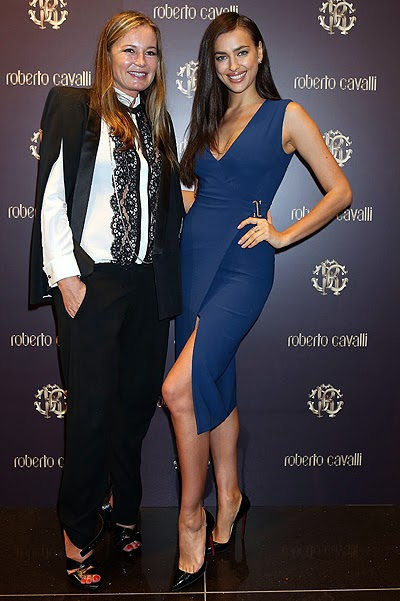 Irina Shayk at the opening of Roberto Cavalli Boutique
