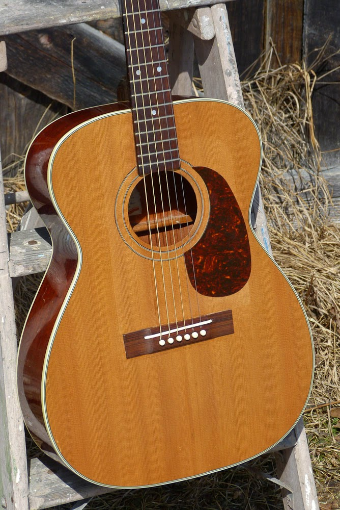 1960s vega harmony 000 size flattop guitar. Black Bedroom Furniture Sets. Home Design Ideas