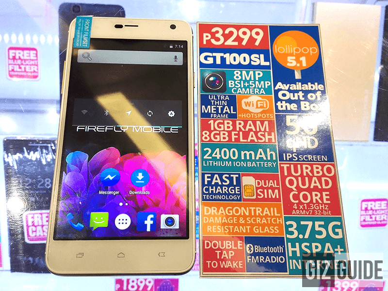 Firefly Mobile GT100 SL Spotted! Now Comes With Android 5.1 Lollipop And A Lower Price Tag At 3299 Pesos!