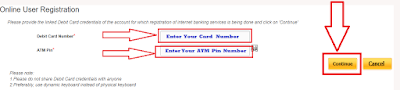 Enter ATM Card Detail and PIN