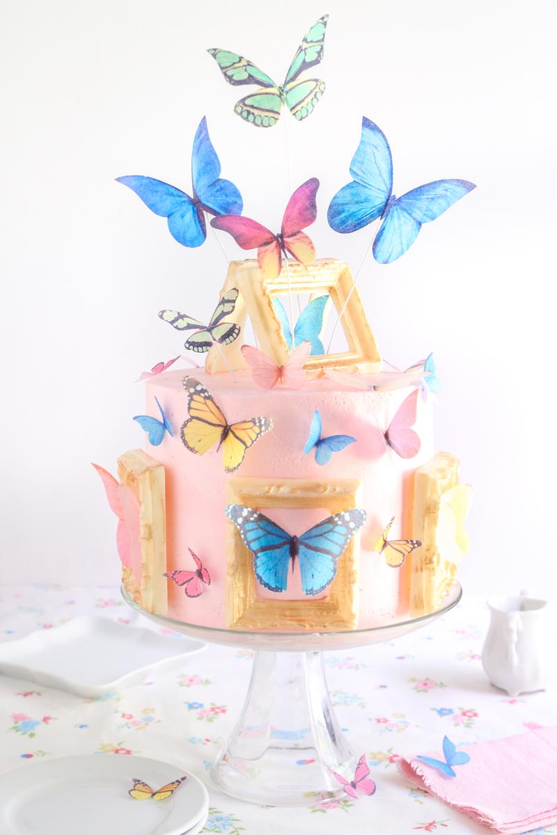 Miraculous Butterfly Gallery Cake Sprinkle Bakes Personalised Birthday Cards Petedlily Jamesorg