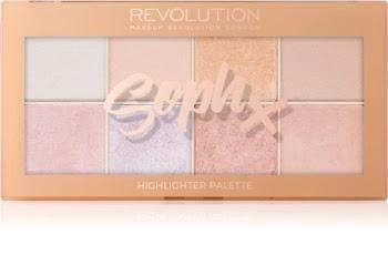 soph x makeup revolution paleta highlightera