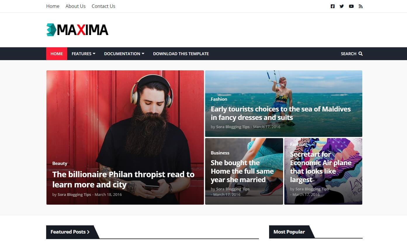 Download Maxima Blogger Theme