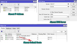 Konfigurasi IP, Gateway, DNS Server