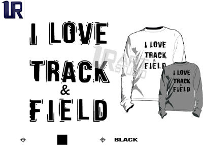 TSHIRT LOGO PRINT READY ONE COLOR I LOVE TRACK AND FIELD BLACK 1