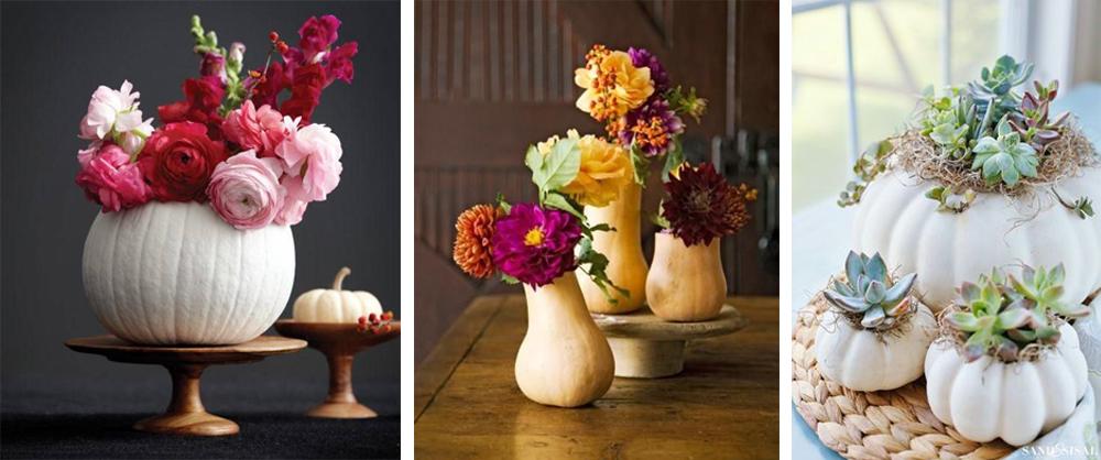 diy florero con calabazas para decorar acción de gracias o thanksgiving fácil y económico