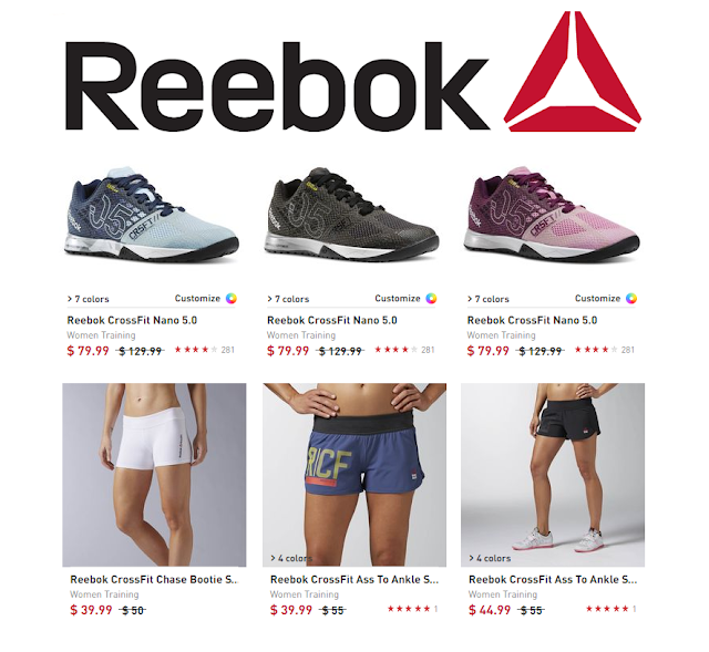 Reebok is having an end of season sale! Take an extra 25% off clearance with code SUMMER25. Get the CrossFit Nano 5.0 for only $60 (reg $130) in seven different colors. They also have a great selection of shorts, t-shirts, sports bras, bags, and much more!