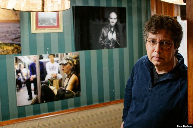 Javier López Fabián, ante su exposición