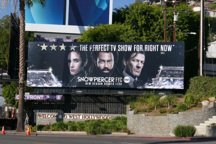Snowpiercer season 1 FYC billboard