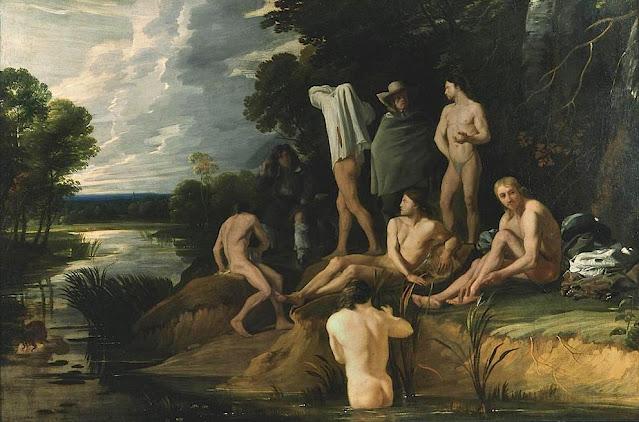 Michael Sweerts (1618 -1664) Hommes se baignant Huile sur toile, 1655, 109 x 164 cm, Musée des beaux-arts de Strasbourg