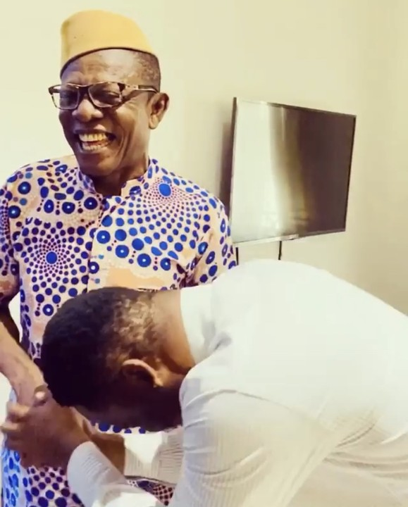 Zubby Michael Meets Nkem Owoh 'Osuofia' (Photos, Video)