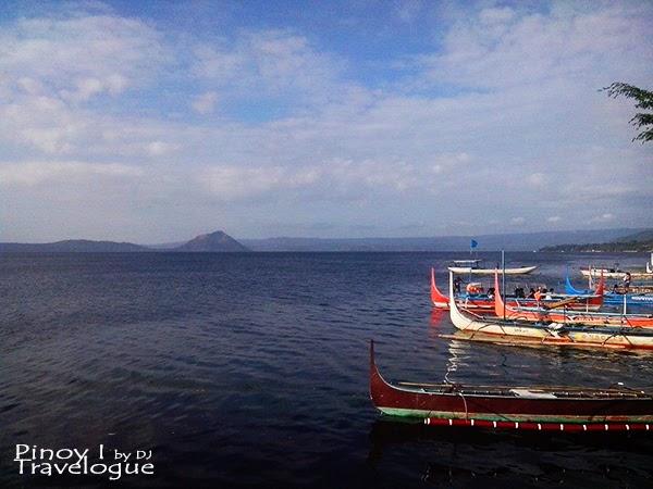 Boats along the shores of Talisay, Batangas
