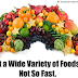 Devemos comer uma grande variedade de alimentos?