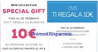 Logo OVS: scarica subito il coupon da 10€ per gli acquisti in store e poi ti regala un buono da 10€ da spendere online