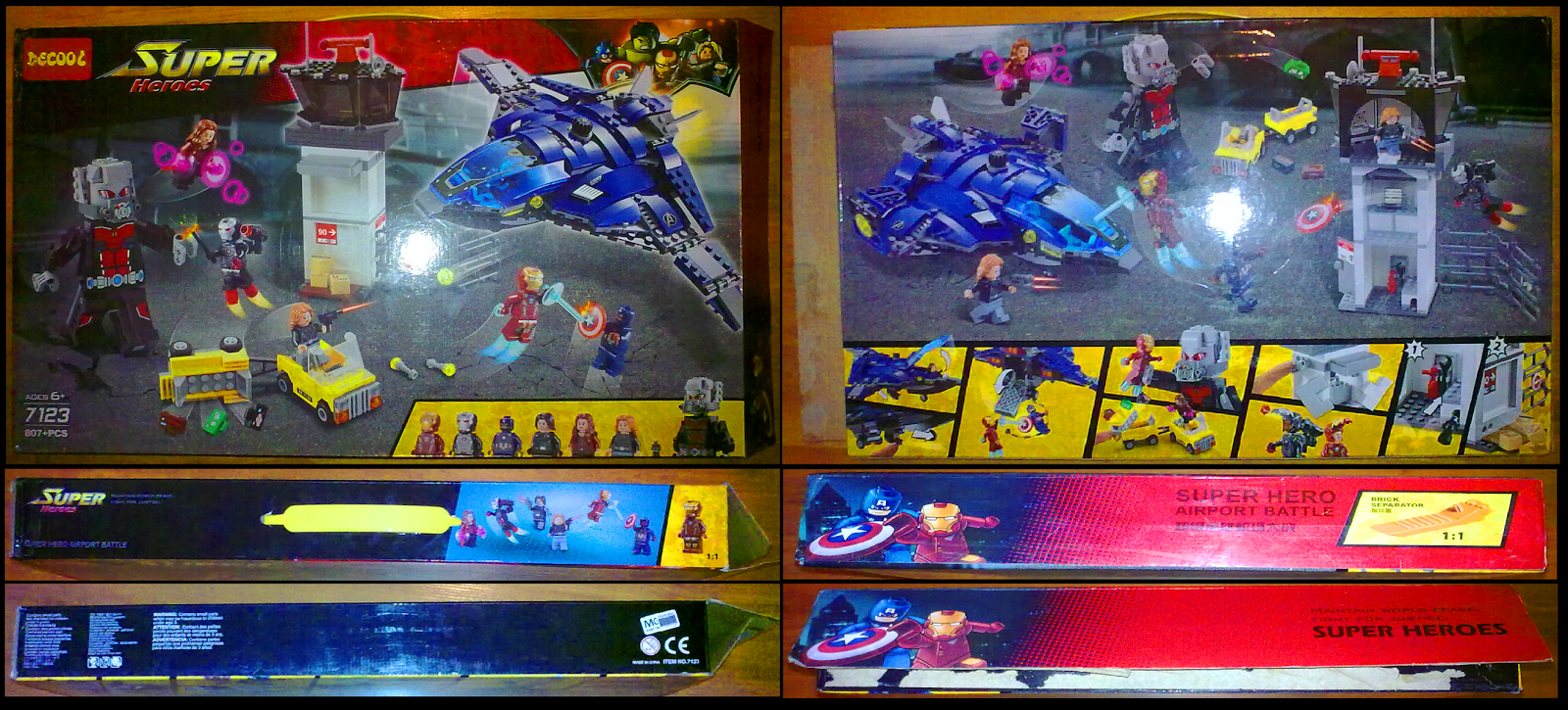 46944d10e8 The box cover is pretty similar to the original LEGO® 76051 Marvel Super  Heroes Captain America: Civil War – Super Hero Airport Battle set.