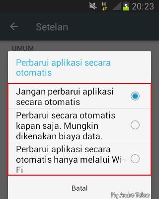 Cara Mematikan dan Menghentikan Update Otomatis di Play Store