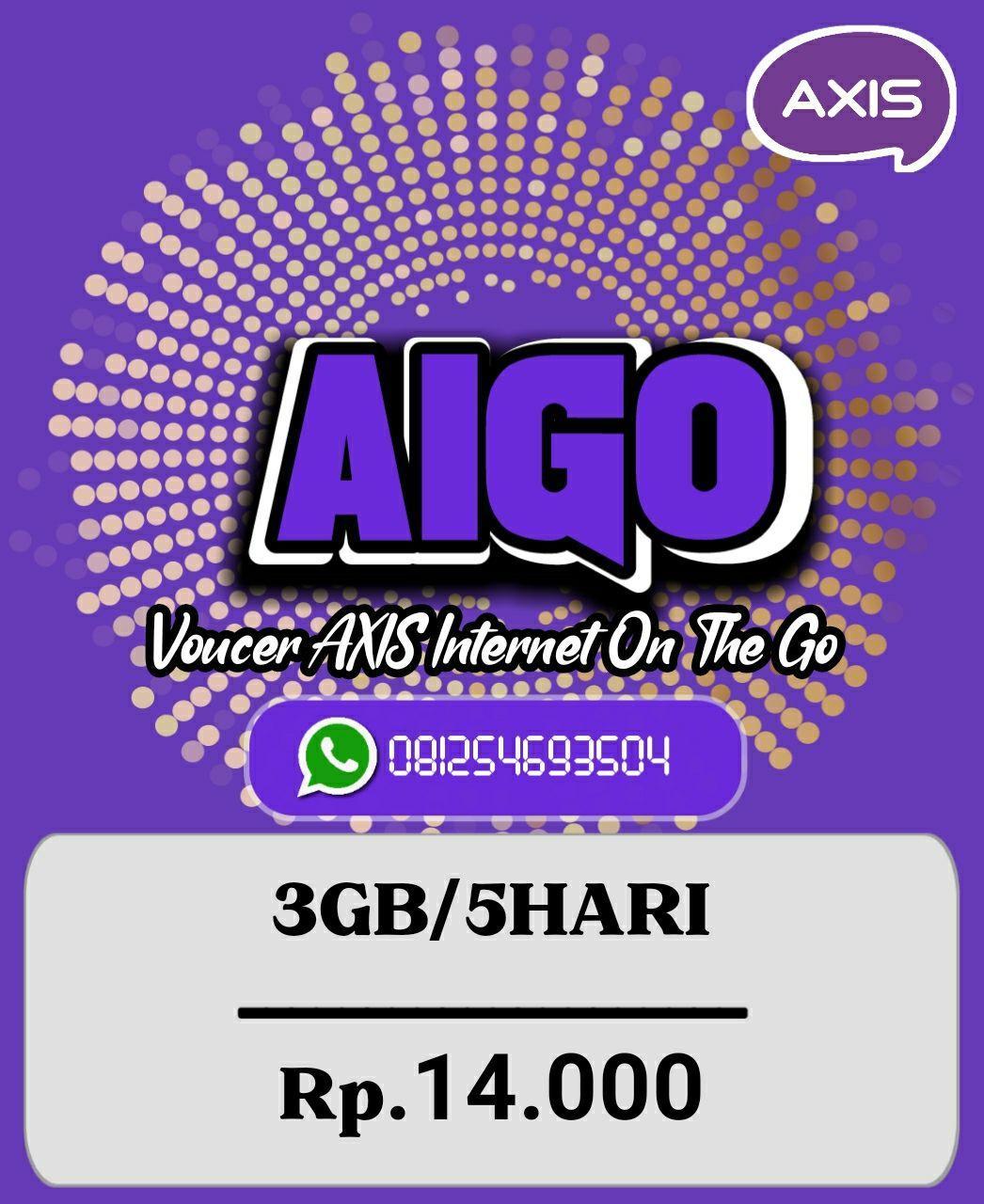 Voucer Axis 3GB/5Hari