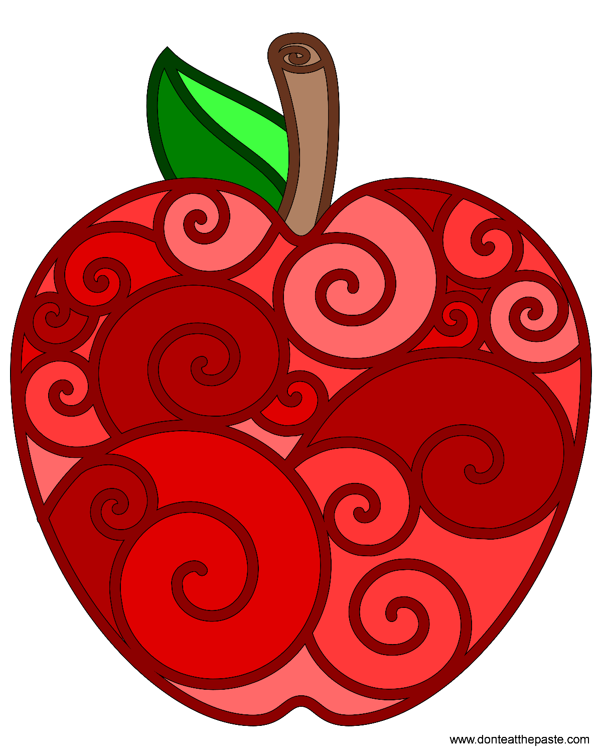 Don't Eat the Paste: Apple Coloring Page