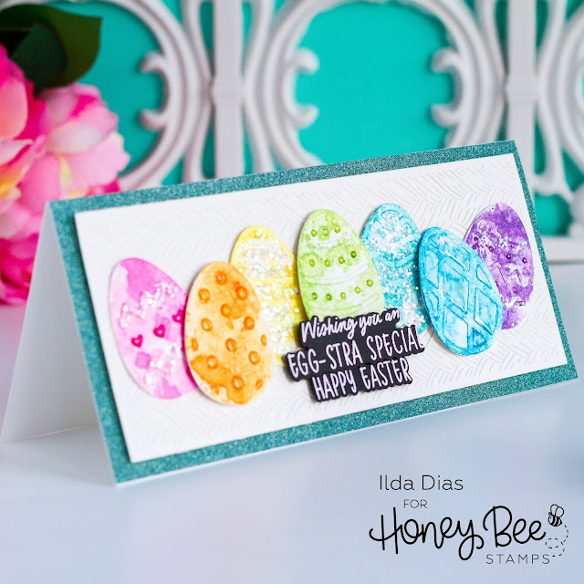 Build an egg dies,Hoppy Easter Stamps, Basketweave Slimline Cover Plate, Sneak Peeks,Honey Bee Stamps,Easter Card,Card Making, Stamping, Die Cutting, handmade card, ilovedoingallthingscrafty, Stamps, how to,