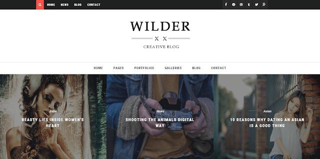 Wilder Blogger Template