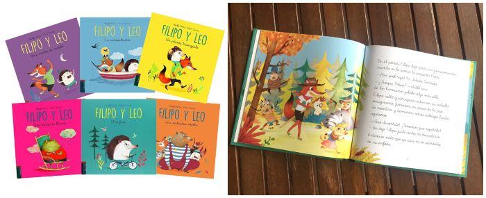 cuentos libros infantiles en letra ligada colección Filipo y leo, edelvives