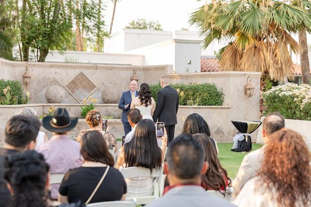 ceremony at arizona golf resort in mesa az