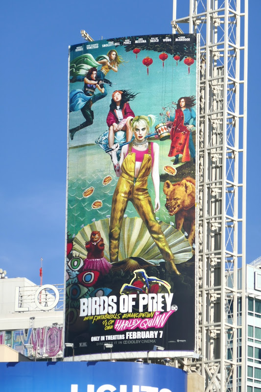 Birds of Prey Harley Quinn billboard