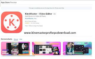 Kinemaster ios App Store