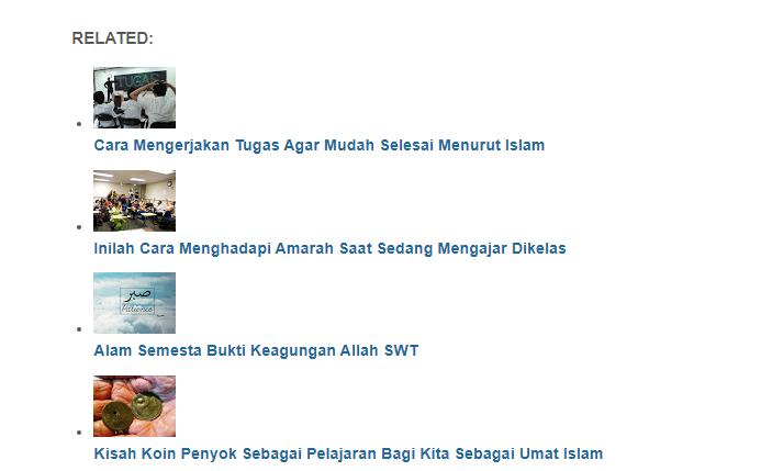 Memodifikasi Related Post Tengah Postingan Menjadi Thumbnail di Viomagz