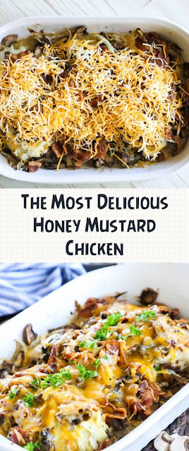 The Most Delicious Honey Mustard Chicken
