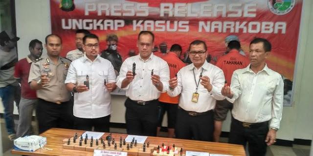 3 Pengedar Liquid Vape mengandung Ganja ditahan Polisi