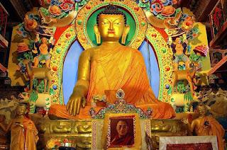 A Statue of Buddha at the Tawang gompa in Tawang,