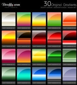 30 Original Gradients Photoshop Styles