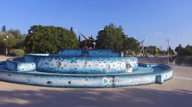 Πάρκο Τρίτση: Δείτε την τοιχογραφία που έκανε «αγνώριστο» το κεντρικό συντριβάνι (VIDEO)
