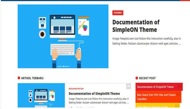 Chia sẻ giao diện Simpleon blogger template