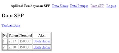 part 3 halaman data spp dan form tambah data spp