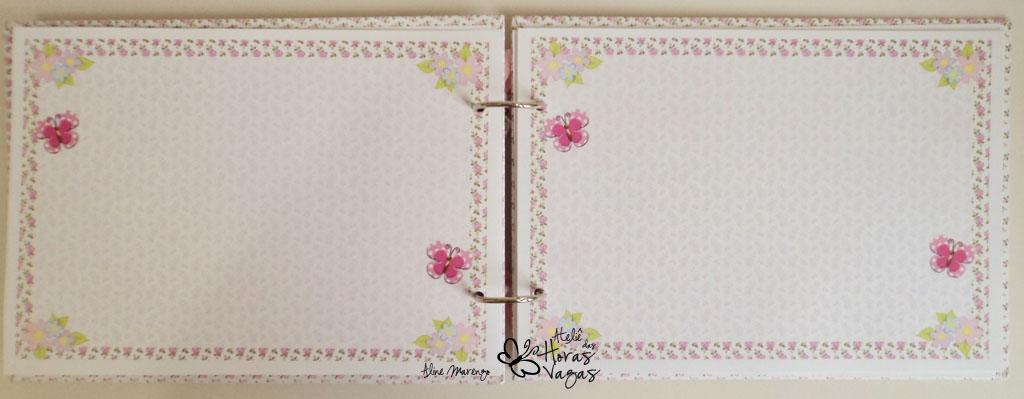 livro de mensagens assinatura artesanal aniversário 1 aninho jardim encantado floral borboletas delicado bebê rosa branco menina