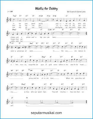 Waltz for Debby chords jazz standar