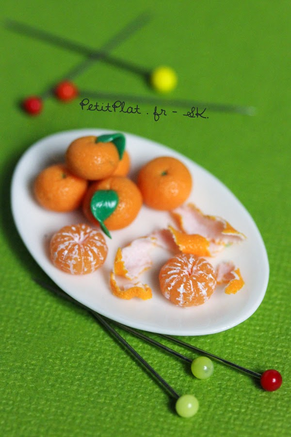Tangerine, Miniature Food Art, Veggies and Fruit by Stephanie Kilgast