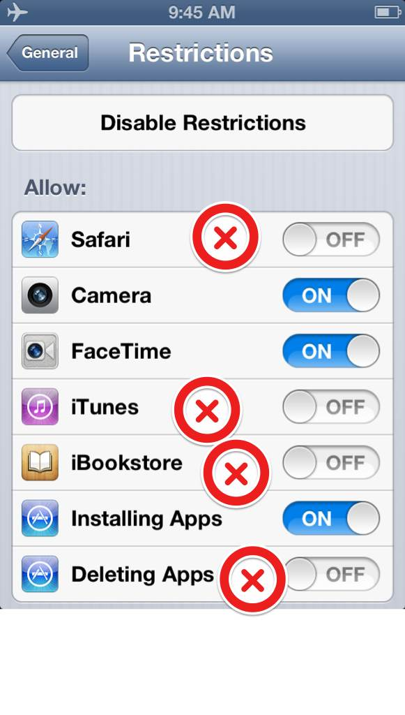 ios safety for kids