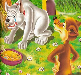 fabula corta el lobo y el perro