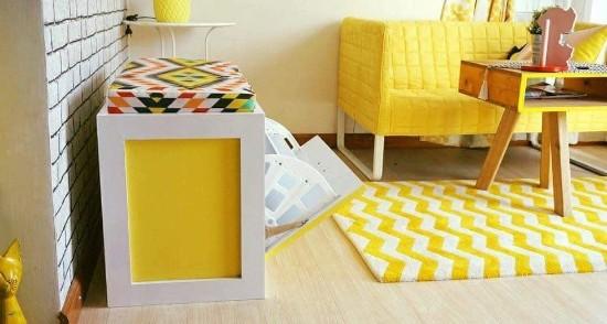 desain inspiratif interior rumah bernuansa kuning