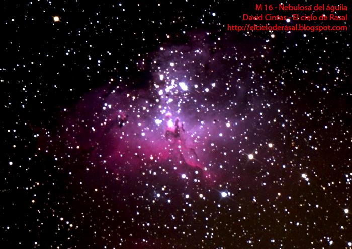 Nebulosa del águila M16 - El cielo de Rasal
