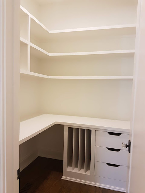 building a home office in a corner