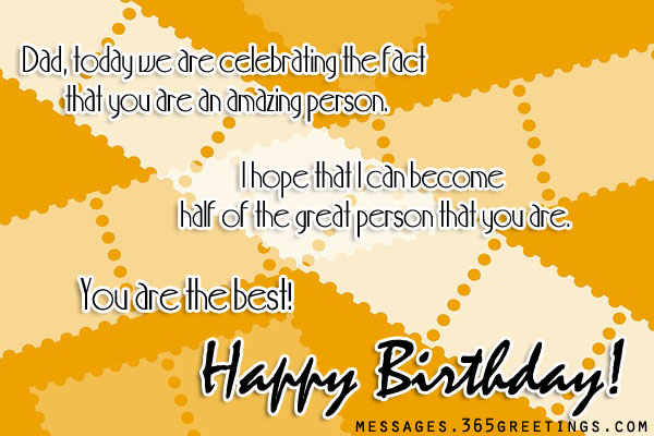 Happy Birthday Messages For Father