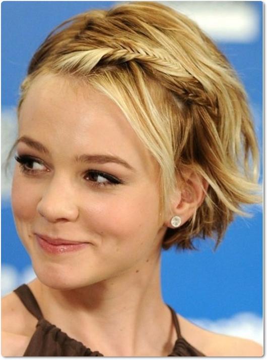 Wie flechtet man kurze Haare